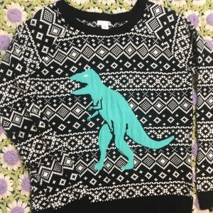 TRex ugly Christmas sweater